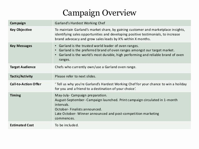 Marketing Campaign Template Best Of Marketing Campaign Template