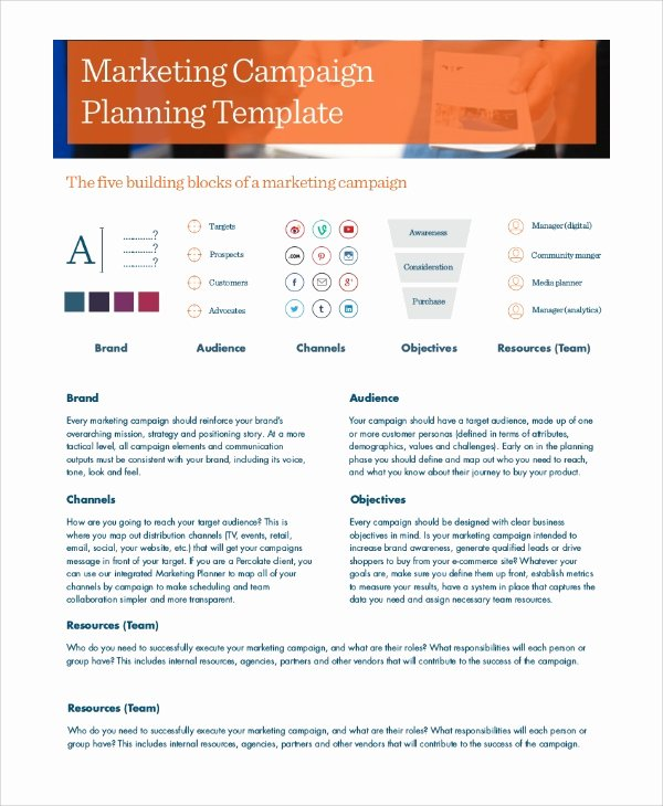 Marketing Campaign Template Fresh Sample Marketing Campaign 8 Documents In Pdf
