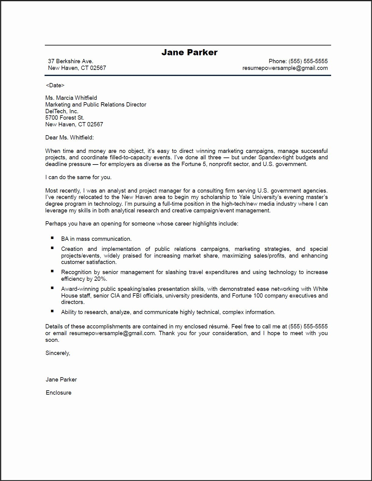 Marketing Cover Letter Sample Beautiful Pr Marketing Cover Letter Resumepowerresumepower