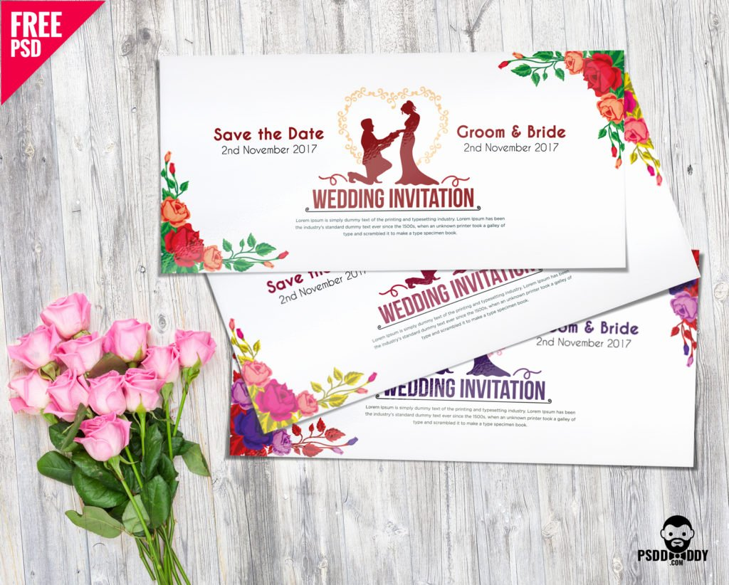 Marriage Invitation Card Design Awesome [download] Wedding Invitation Card Psd Mockup