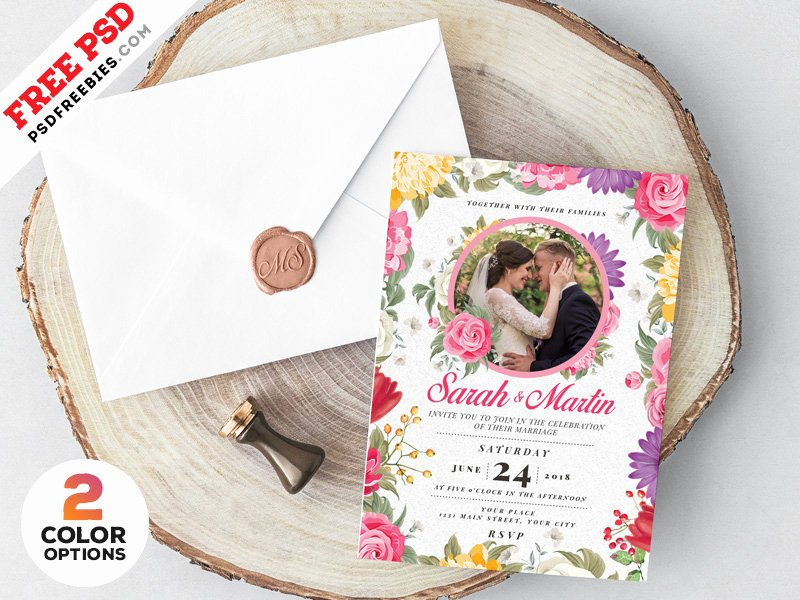 Marriage Invitation Card Design Beautiful Wedding Invitation Card Design Psd