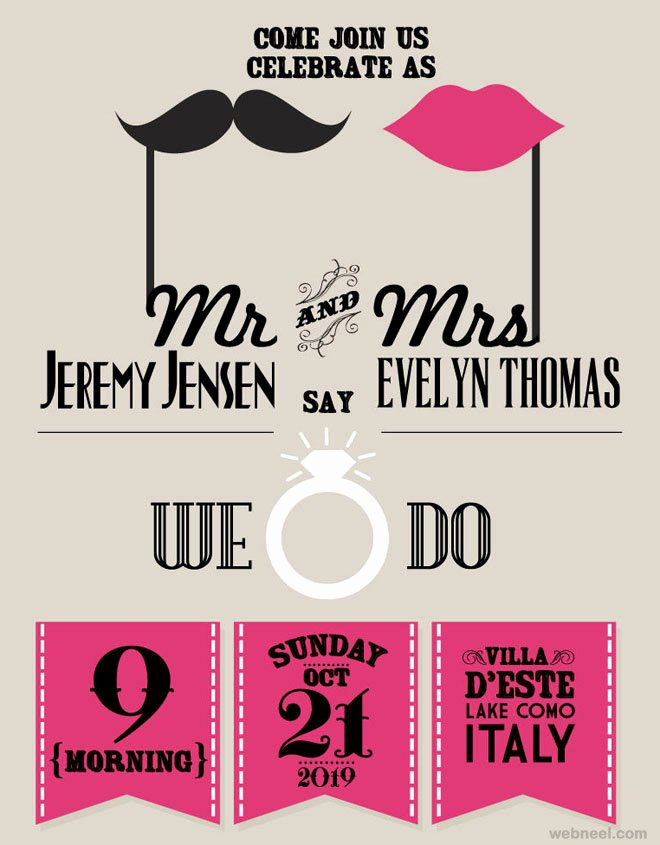 Marriage Invitation Card Design Elegant 25 Creative and Unusual Wedding Invitation Card Design