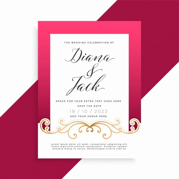 Marriage Invitation Card Design Elegant Invitation Vectors S and Psd Files