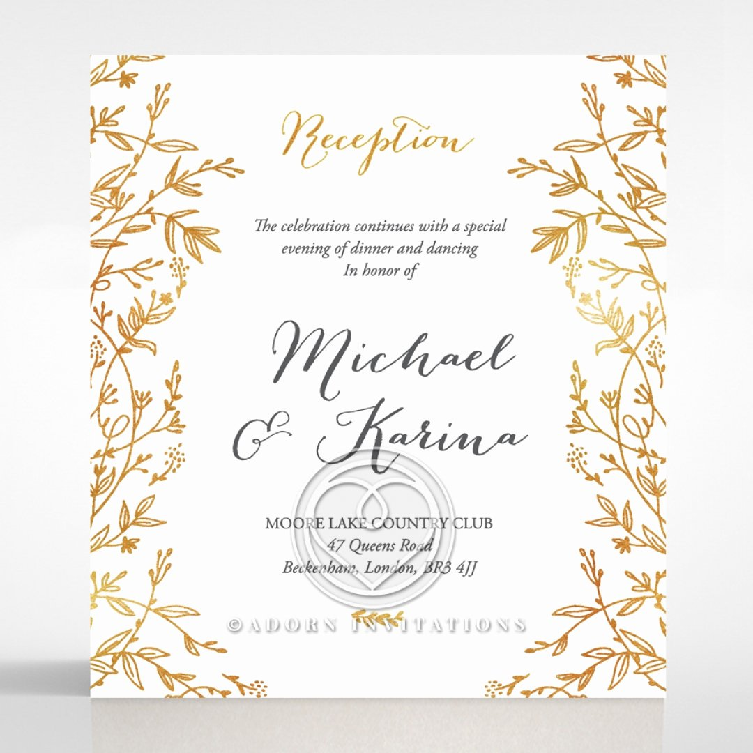 Marriage Invitation Card Design Fresh Golden Floral Frame