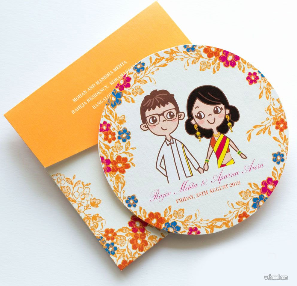 Marriage Invitation Card Design Lovely 35 Creative and Unusual Wedding Invitation Card Design Ideas