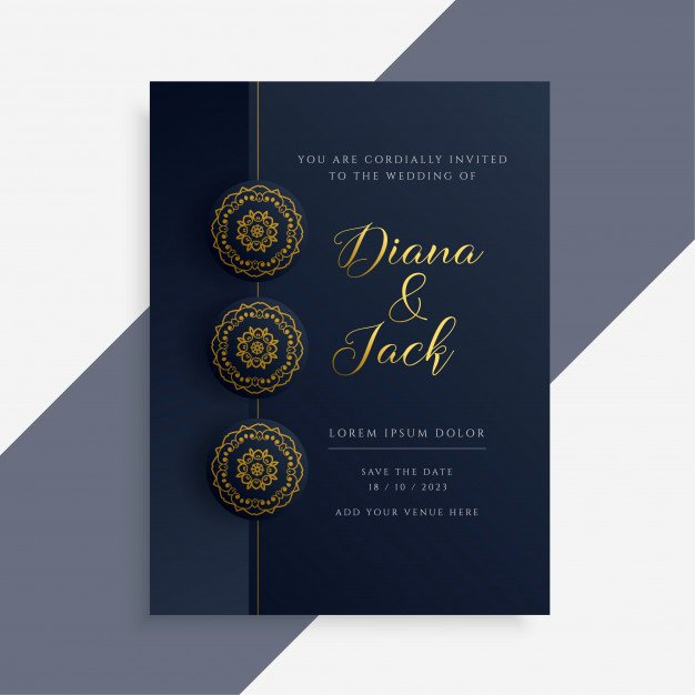 Marriage Invitation Card Design New Luxury Wedding Invitation Card Design In Dark and Gold
