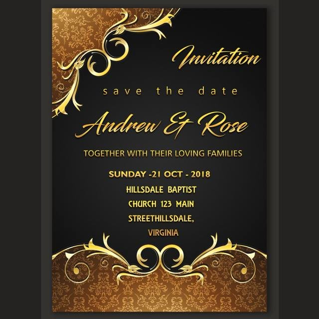 Marriage Invitation Card Design New Wedding Invitation Card Design Template Template for Free
