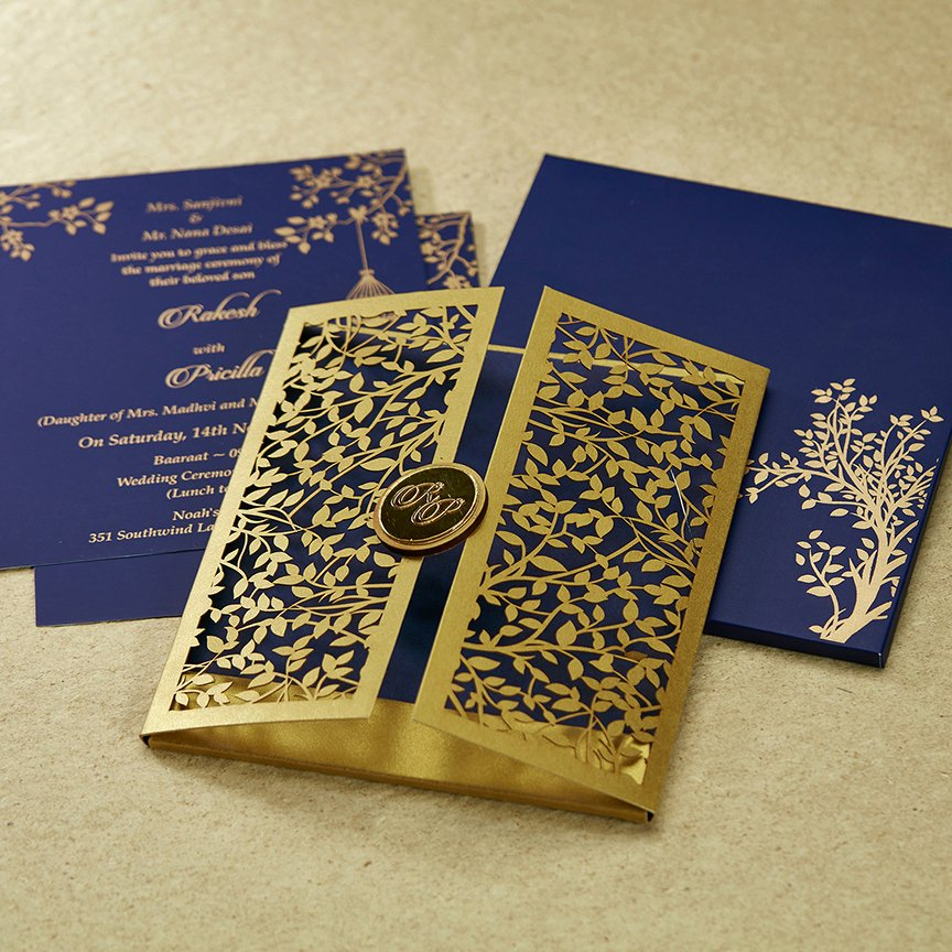 Marriage Invitation Card Design Unique Parekh Cards Mf2363 In