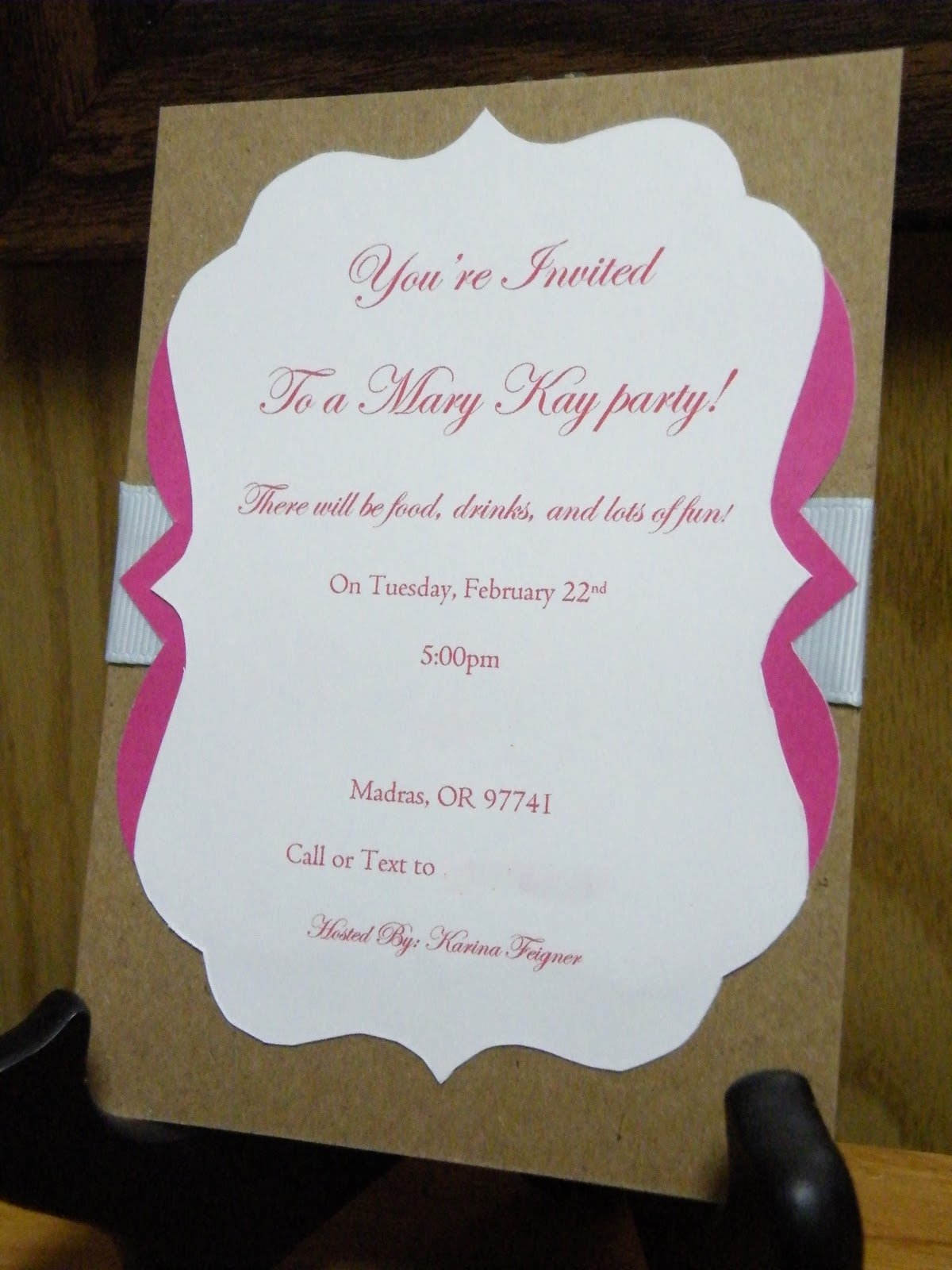 Mary Kay Invitations Template Elegant the Crafty Housewife Mary Kay Party Invite