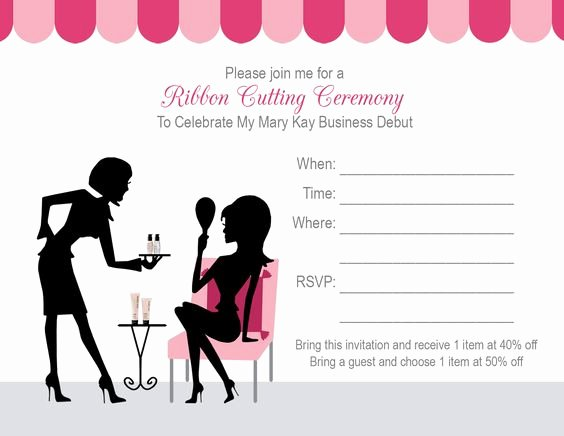 Mary Kay Invitations Template Unique for Mary Kay Party Flyer Templates