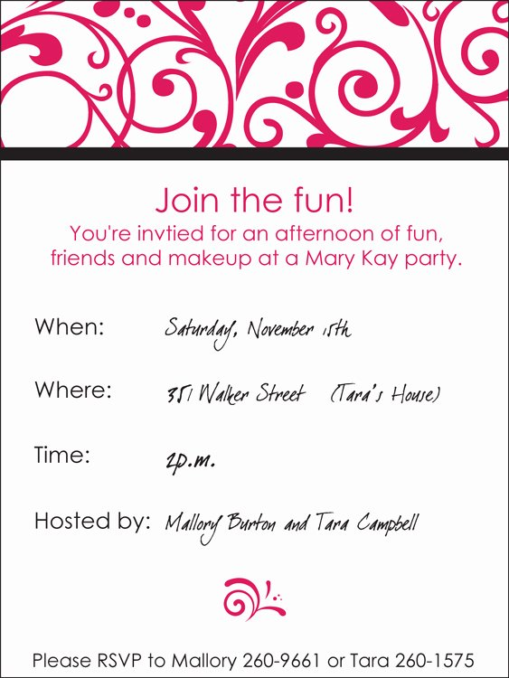 Mary Kay Party Invitation Awesome Marykay Party Invite by Murp8408