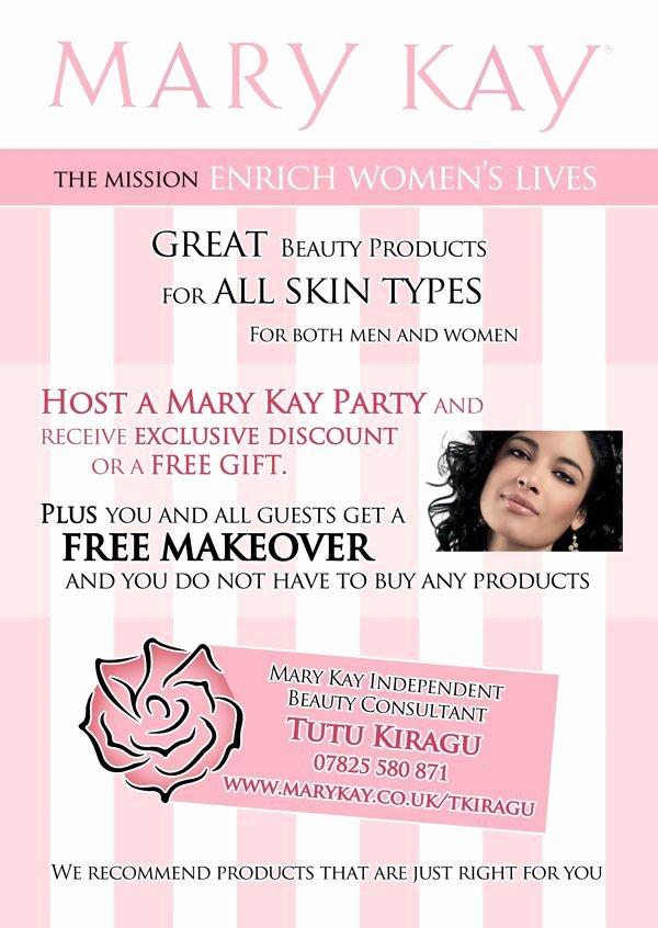 Mary Kay Party Invitation Fresh Mary Kay Promotional Flyers Mary Kay Consultant