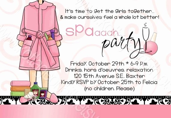 Mary Kay Party Invitation Luxury Spa Party Printable Invitation for Birthday by