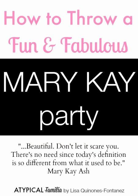 Mary Kay Party Invitation New How to Throw A Mary Kay Party