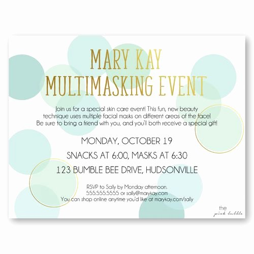 Mary Kay Party Invitation Unique 21 Best Mary Kay Invitations Images On Pinterest