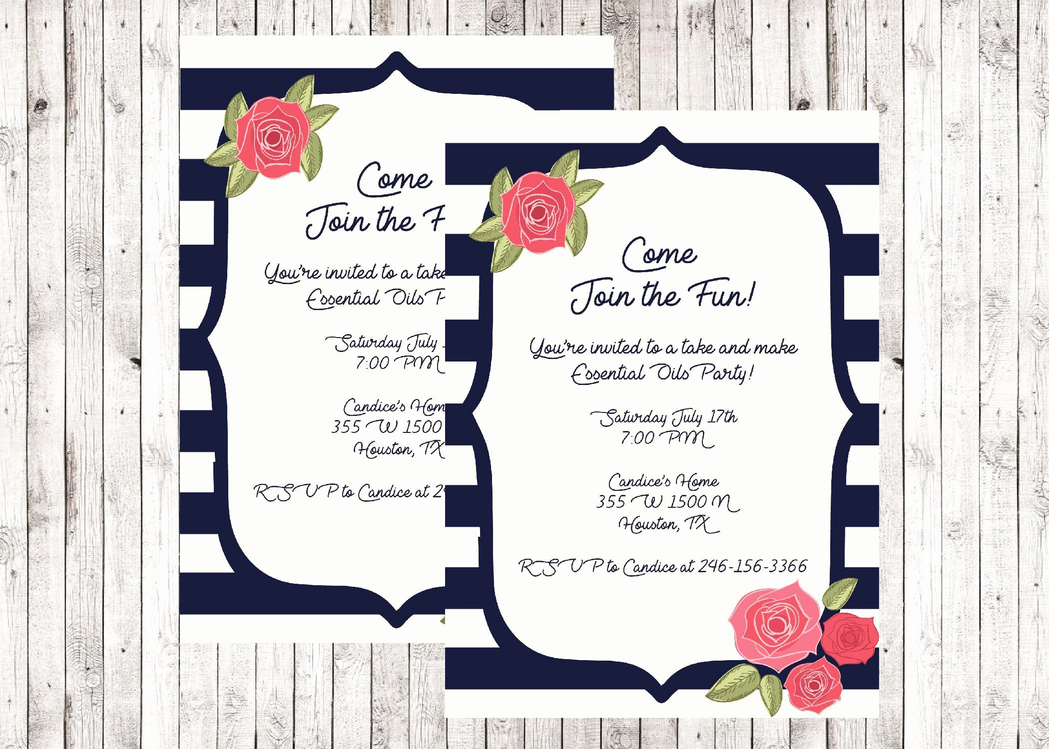 Mary Kay Party Invites Awesome Direct Sales Home Party Business Invitation Mary Kay