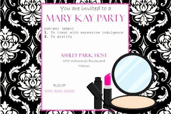 Mary Kay Party Invites Beautiful Items Similar to Pink and Black Party Invitation Mary Kay