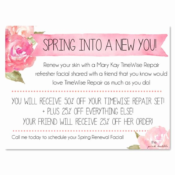 Mary Kay Party Invites Beautiful Mary Kay Timewise Repair Refresher Facial Invite Add Your