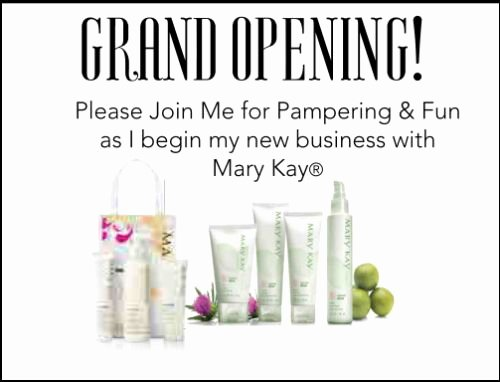 Mary Kay Party Invites Beautiful Postcard Invitations for Mary Kay Business Launch