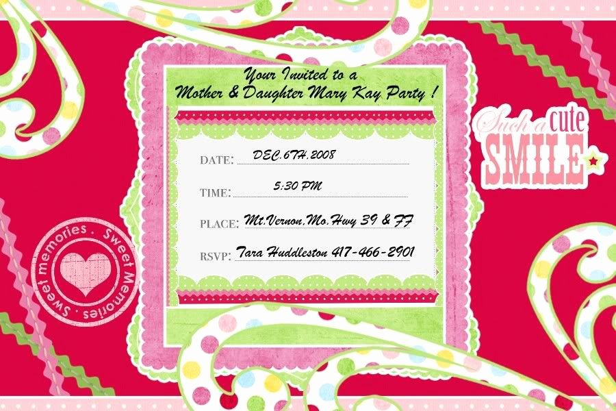 Mary Kay Party Invites Inspirational Mary Kay Party Invitations Ehow