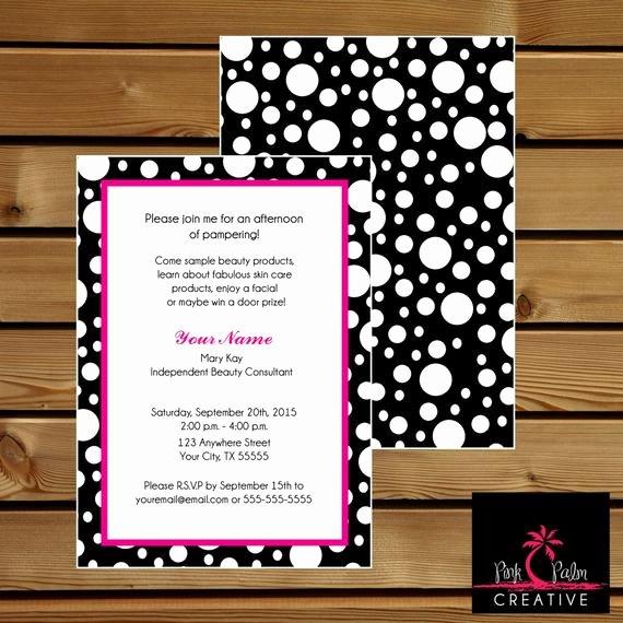Mary Kay Party Invites Luxury Mary Kay Skin Class Party Invitation 7 X 5