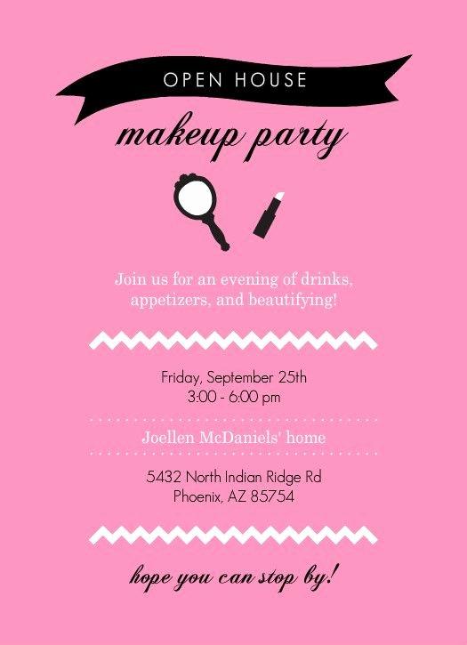 Mary Kay Party Invites Unique Mary Kay Party Invitation Templates Open House Invitation