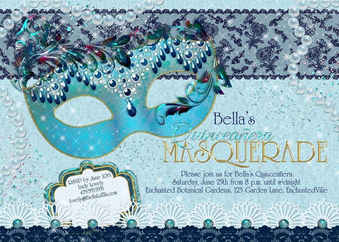 Masquerade Invitations for Quinceaneras Awesome Masquerade Party Invitation Quinceanera Sweet 16 Party