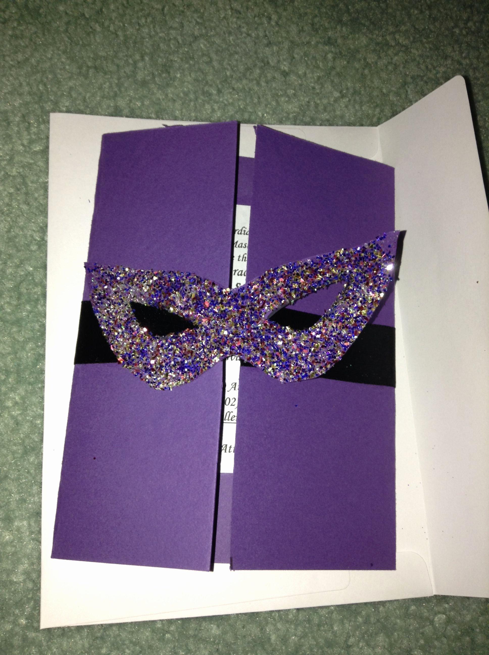 Masquerade Invitations for Quinceaneras Fresh Homemade Masquerade Invitations