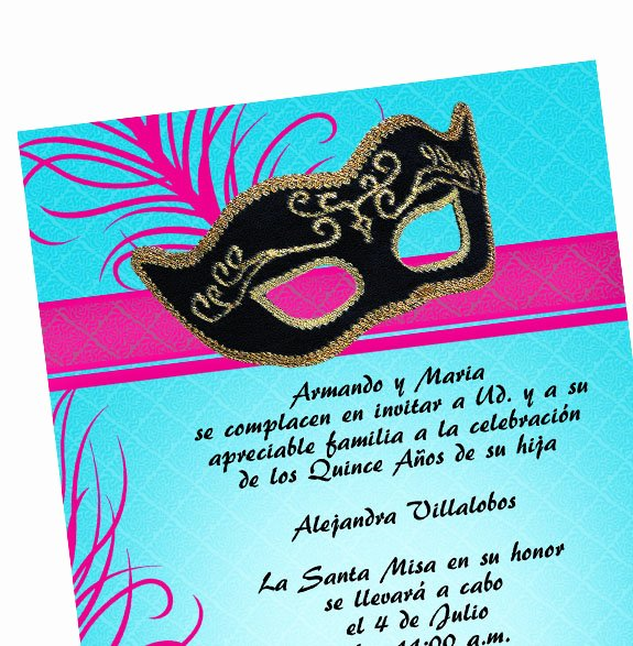Masquerade Invitations for Quinceaneras Fresh Masquerade Quinceanera Invitations