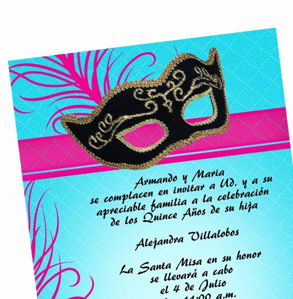 Masquerade Invitations for Quinceaneras Fresh Masquerade Quinceanera Invitations