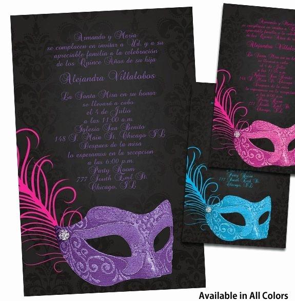 Masquerade Invitations for Quinceaneras Fresh Quinceanera Ideas