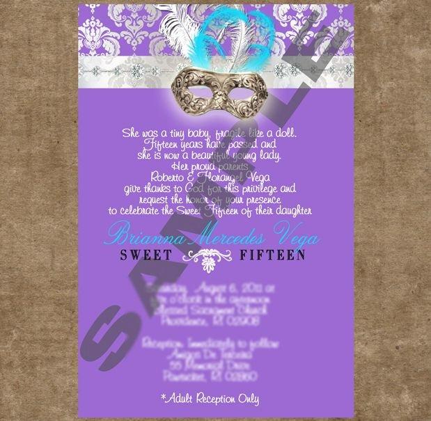 Masquerade Invitations for Quinceaneras Fresh Quinceanera Invitations for Masquerade