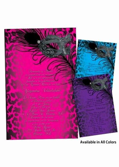 Masquerade Invitations for Quinceaneras Unique Masquerade Invitation My Sweet 16