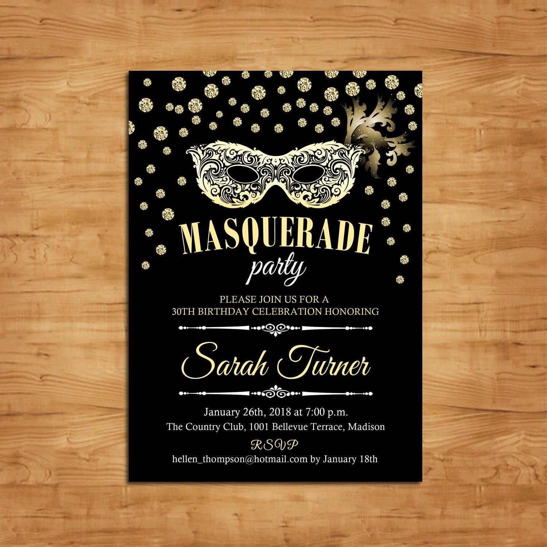 Masquerade Party Invitations Templates Free Best Of Masquerade Party Invitation Mardi Gras Mask Masquerade