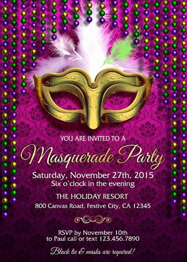 Masquerade Party Invitations Templates Free Inspirational How to Design Masquerade Party Invitations