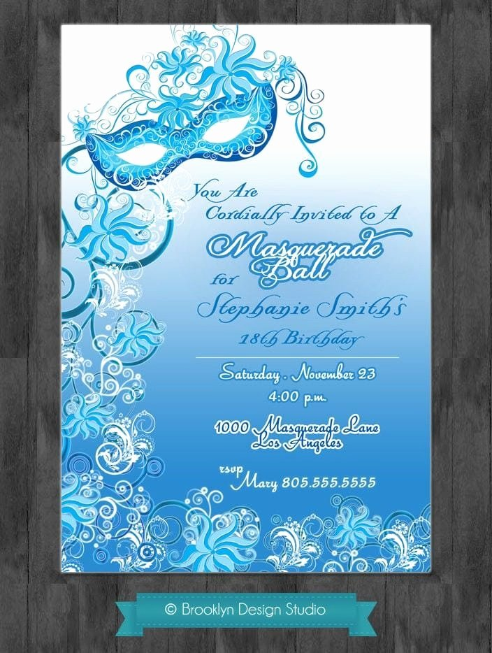 Masquerade Party Invitations Templates Free Lovely Masquerade Ball Invitation