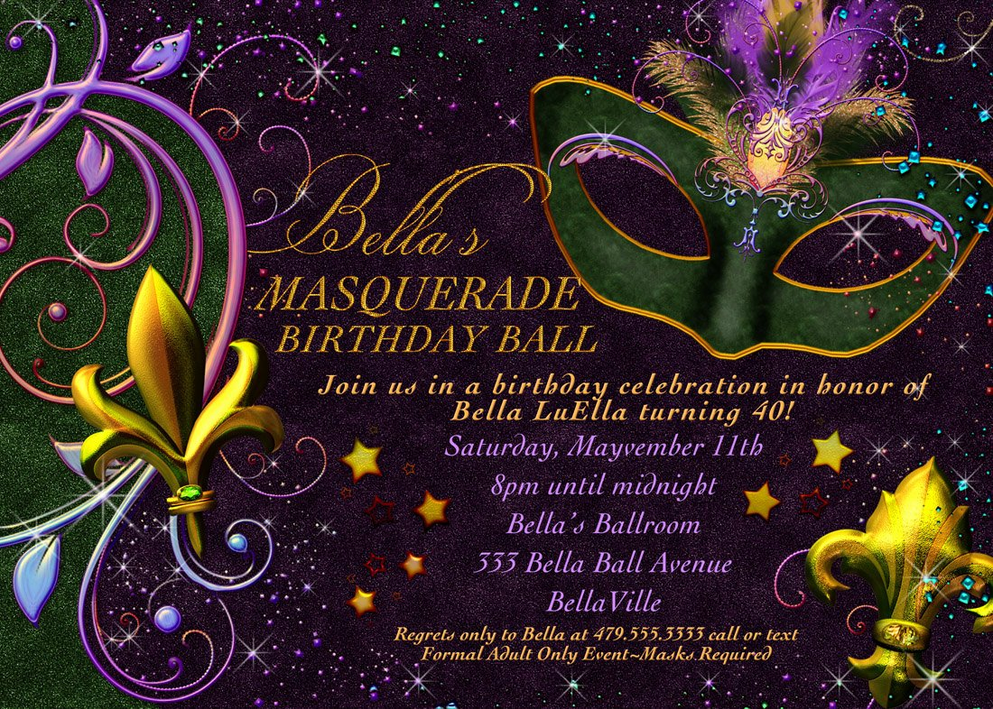 Masquerade Party Invitations Templates Free New Masquerade Invitation Mardi Gras Invitation Masquerade