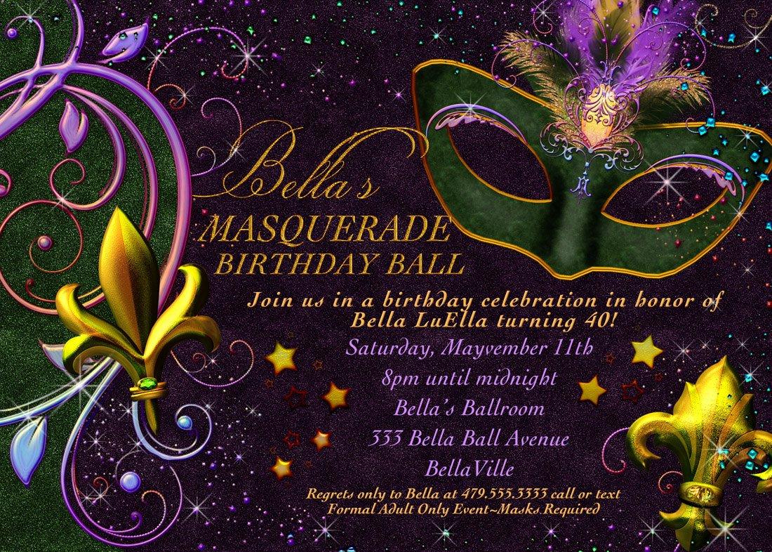 Masquerade Party Invitations Templates Free New Masquerade Invitation Mardi Gras Invitation Masquerade