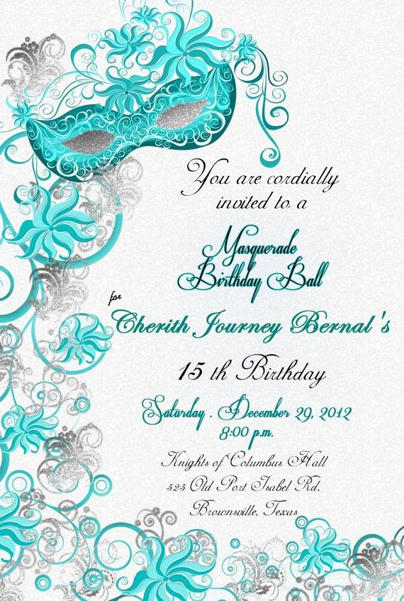 Masquerade Party Invitations Templates Free New Masquerade Party Custom Designed by Brooklyndesignstudio