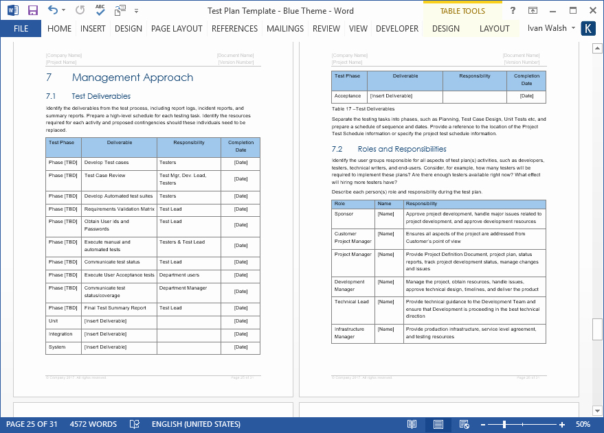 Master Test Plan Templates New Test Plan Templates Ms Word Excel – Templates forms