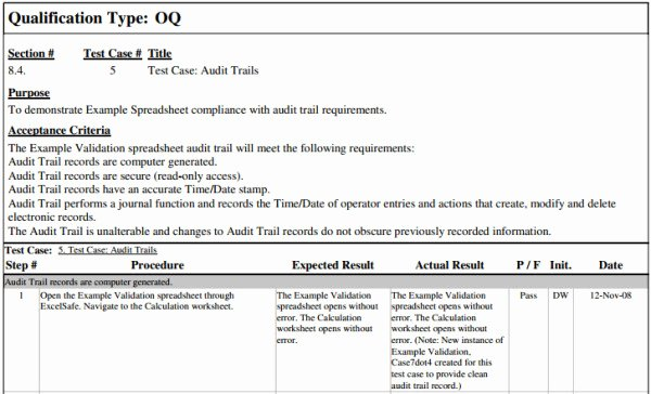 Master Test Plan Templates Unique Fastval Operational Qualification Template