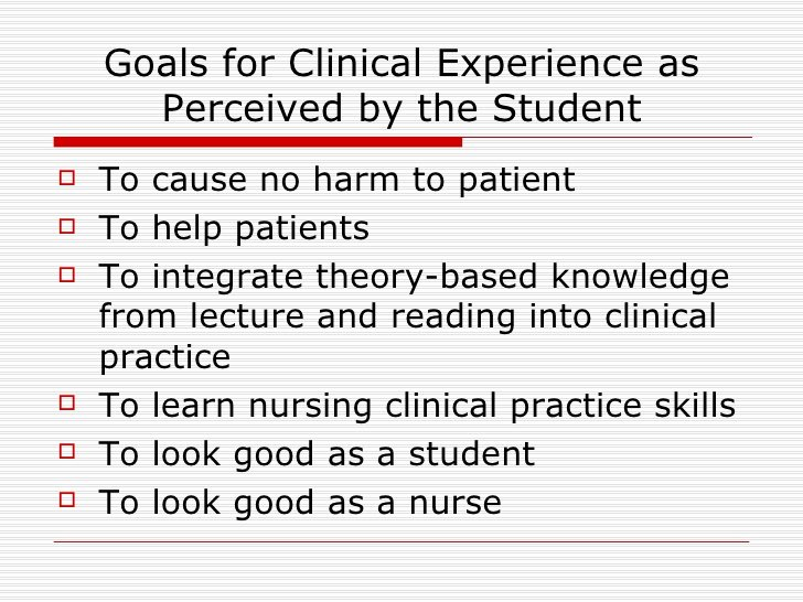 Measurable Nursing Goals Example Lovely Goals Of Clinical Nursing Education