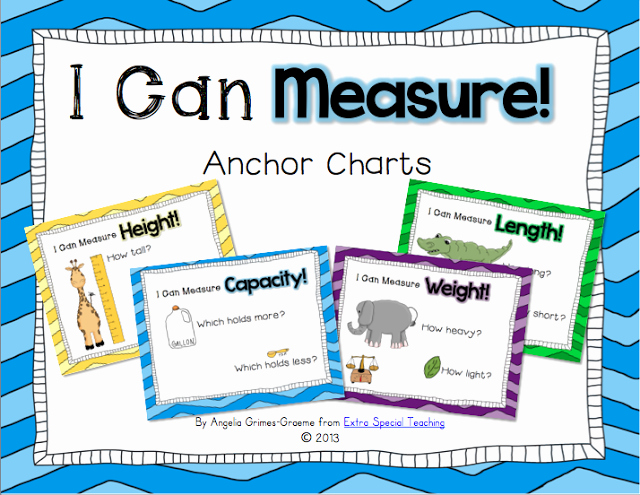 Measuring Chart for Math New I Can Measure Anchor Charts Freebie
