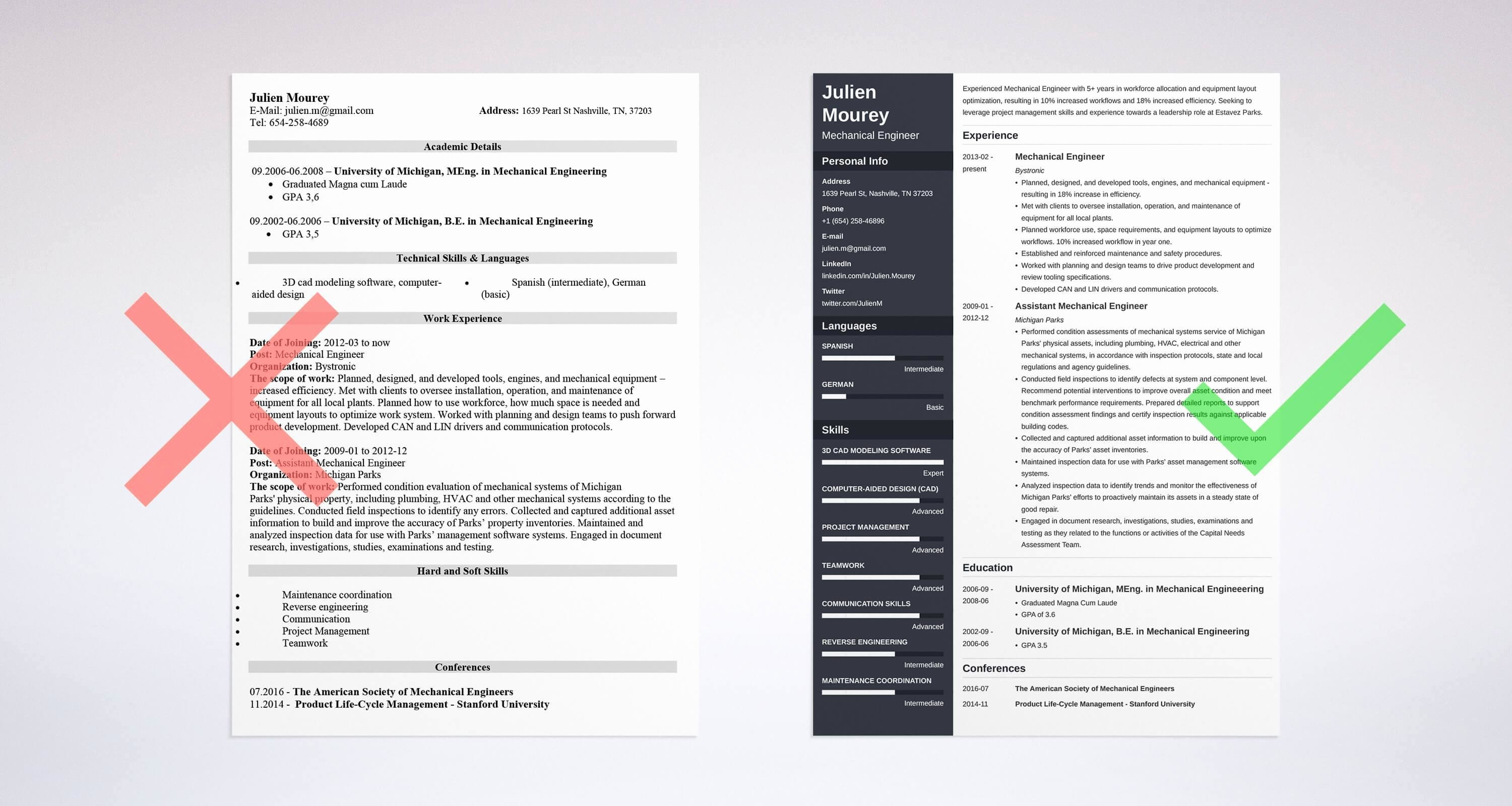 Mechanical Engineering Curriculum Vitae Best Of Mechanical Engineering Resume Sample & Guide [20 Examples]