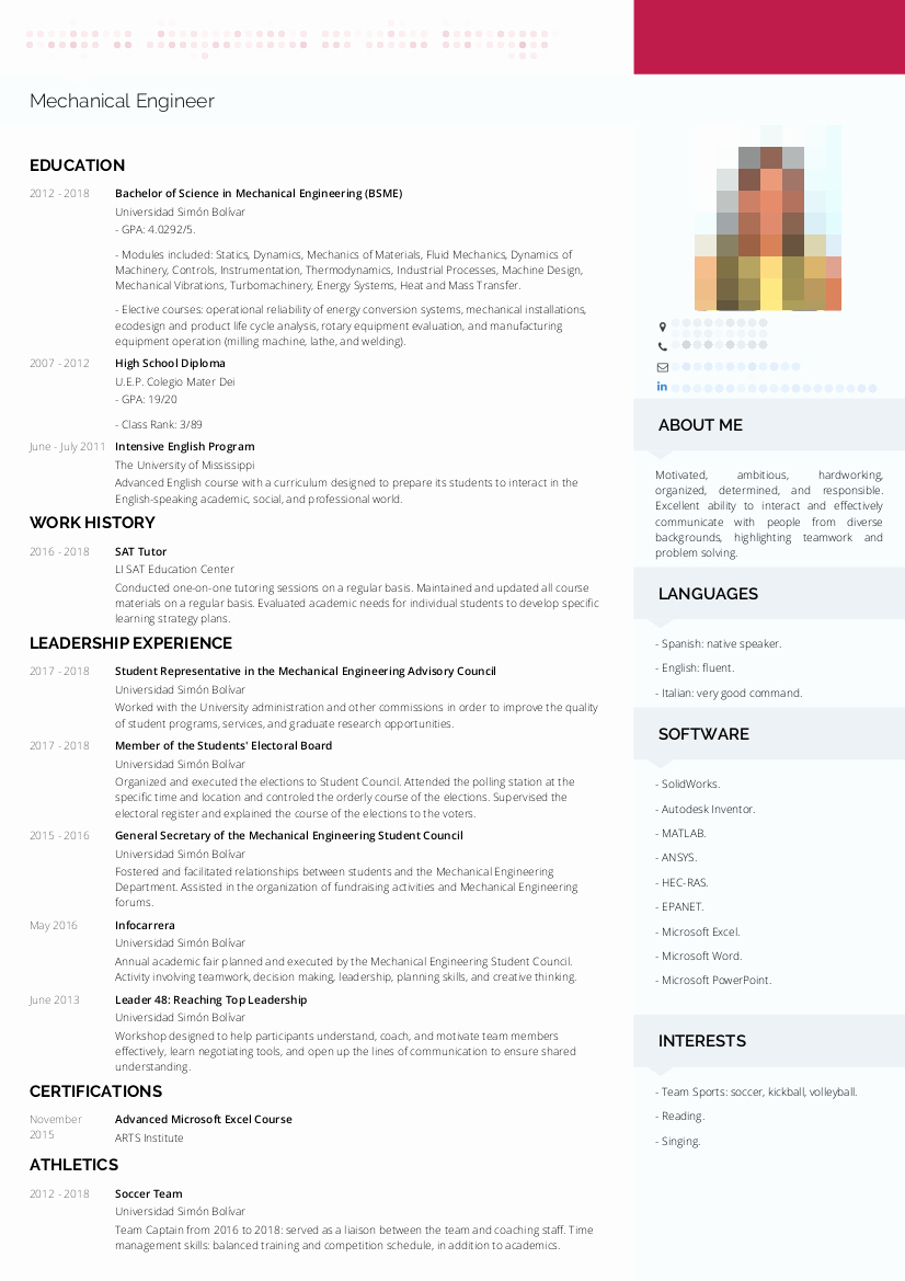 Mechanical Engineering Curriculum Vitae Lovely Mechanical Engineer Cv Examples
