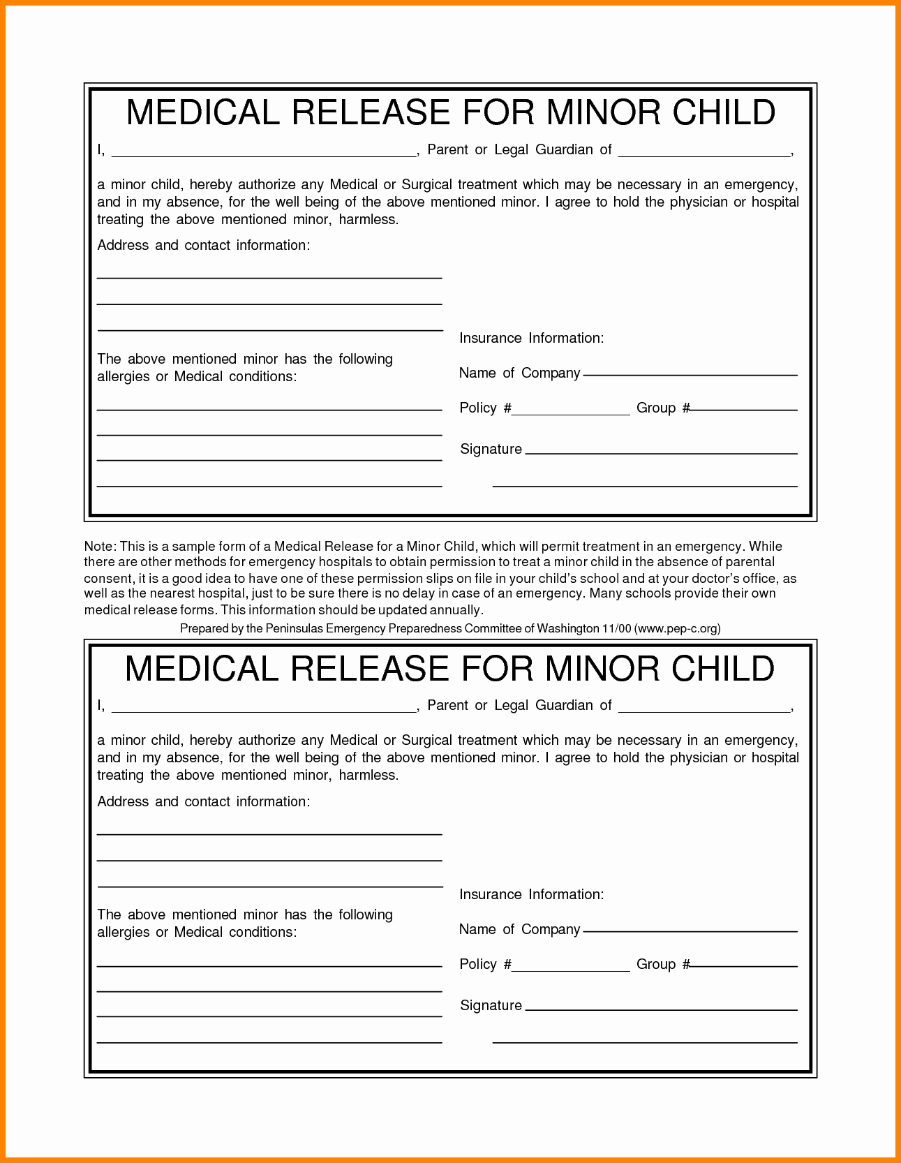 Medical Consent form for Caregiver Fresh Medical form for Child – Medical form Templates