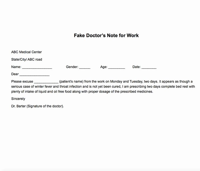 Medical Excuse Note for Work Lovely 25 Free Printable Doctor Notes Templates for Work Updated