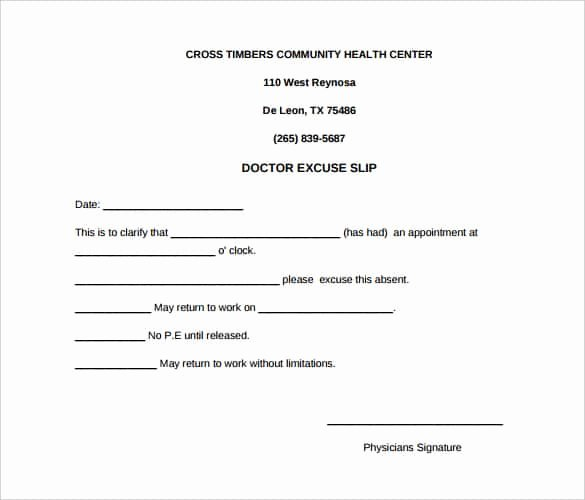 Medical Excuse Note for Work Lovely 35 Doctors Note Templates Word Pdf Apple Pages