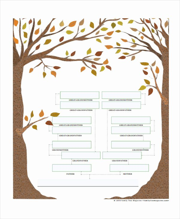 Medical Family Tree Template Awesome 9 Family Tree Chart Templates Free Samples Examples