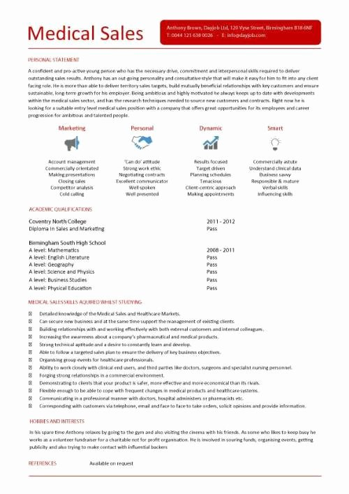 Medical Sales Cover Letter Awesome Student Entry Level Medical Sales Resume Template